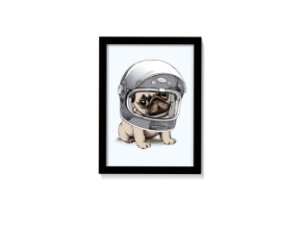 Quadro Bulldog Astronauta