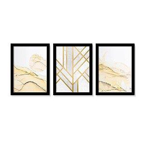 Kit 3 Quadros Elegance Yellow Gold