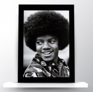 Quadro Michael Jackson Black Power