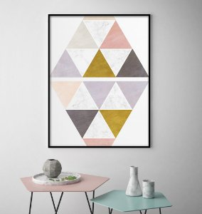 Quadro Triângulos & Tons Minimalista