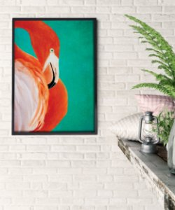 Quadro Flamingo Tropical Art