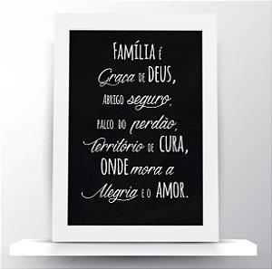 Quadro Família é graça
