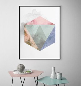 Quadro Geometric Smoke Colors Minimalista