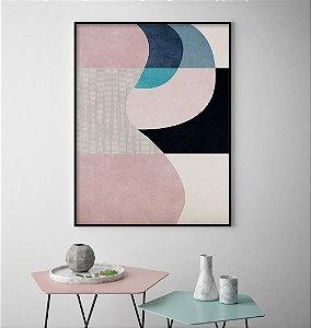 Quadro Formas Abstratas Rosé