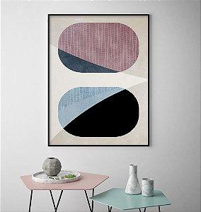 Quadro Formas Abstratas Rosé II
