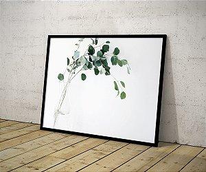 Quadro Planta Folhas Verdes Minimalista