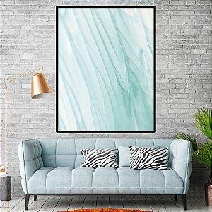 Quadro Abstrato Plumas Tons Azuis
