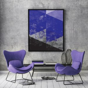Quadro Geometric Purple Minimalista