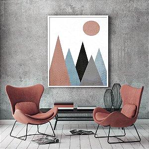 Quadro Montanhas Geométricas Minimalista