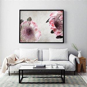 Quadro Flores Protea Duo Pink Ice