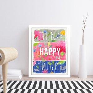 Quadro Think, Happy, Thoughts