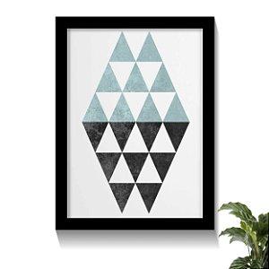 Quadro Diamond Tons Azuis Claros