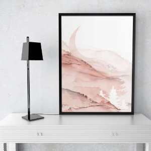 Quadro Abstrato Rose Gold Elegance II