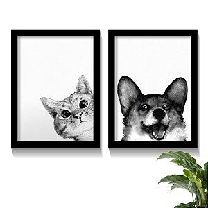 Conjunto Quadros Pets Love