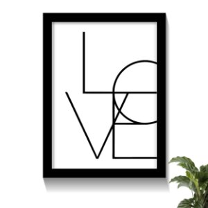 Quadro Love Minimalista