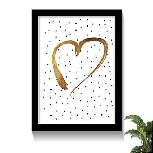 Quadro Heart Gold Minimalist
