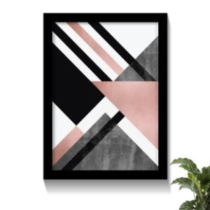 Quadro Rose Gold Geometric