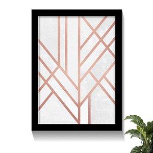 Quadro Lines Rose Gold