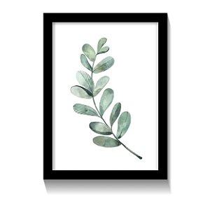 Quadro Folhas Verdes Minimalista