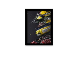 Quadro Decorativo Ayrton Senna Formula 1 Capacete F1 40x60