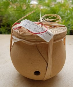 Casa Cerâmica Com Tampa Abelha Solitária - Euglossa