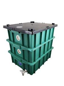 Composteira Doméstica Minhocário Verde - 15 L (1-2 Pessoas)