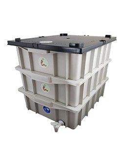 Composteira Doméstica Minhocário Branco - 15 L (1-2 Pessoas)