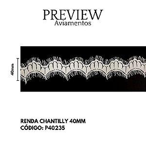 RENDA CHANTILLY - LARGURA 4CM