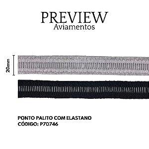 PONTO PALITO ELÁSTICO / LARG: 20MM / COMP. 100% ALGODÃO