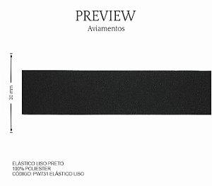 Elástico Liso Preto PW731 PCT C/ 10.00m Larg. Aprox.: 30 mm Composição: 100% Poliéster