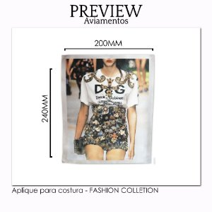 APLIQUE PARA COSTURA FASHION COLLECTION  / 220x240MM