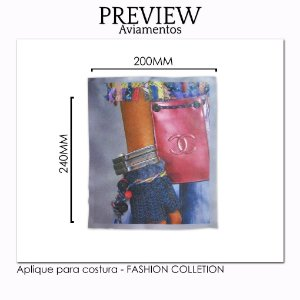 APLIQUE PARA COSTURA FASHION COLLECTION / MÍNIMO: 5U / 220X225MM