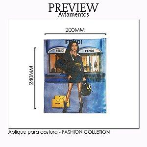 Aplique para costura FASHION COLLECTION - Pct c/ 5 pc - 220x240MM - 100% Poliéster