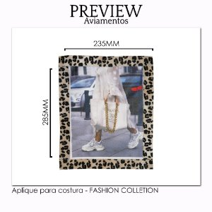 Aplique para costura FASHION COLLECTION/CUSTOMIZADO - Pct c/ 5 pc - 235x285MM - 100% Poliéster