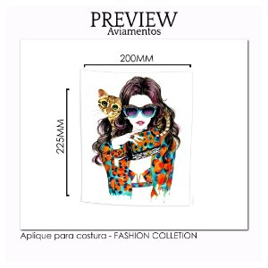 APLIQUE PARA COSTURA FASHION COLLECTION / MÍNIMO: 5U / 200X225MM