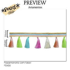 Passamanaria com tassel RESORT COLLECTION / 90MM ( Valor do metro)
