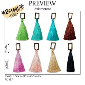 Tassel com fivela quadrada RESORT COLLECTION / MÍNIMO: 10U / 85MM