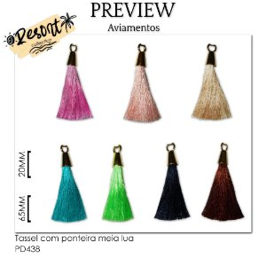 Tassel com ponteira meia lua RESORT COLLECTION / MÍNIMO: 10U / 85MM