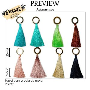 Tassel com argola de metal RESORT COLLECTION / MÍNIMO: 10U / 80MM