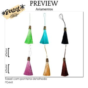 Tassel com ponteira detalhada RESORT COLLECTION / MÍNIMO: 10U / 110MM
