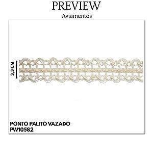 PONTO PALITO VAZADO LARG 3,3 CM 100%ALGODÃO
