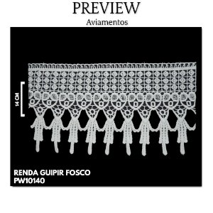 RENDA GUIPIR FOSCO 100% POLIESTER