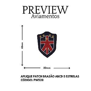 PATCHWORK TERMOCOLANTE BRASÃO ABCD LARG APROX: 65MMX50MM