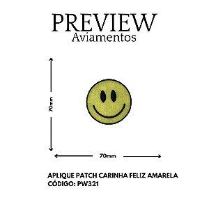 PATCHWORK TERMOCOLANTE  EMOTION SMILE  LARG APROX: 70MMX70MM