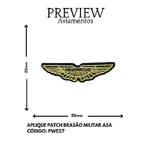 PATCHWORK BRASÃO MILITAR ASA LARG APROX:85MMX22MM