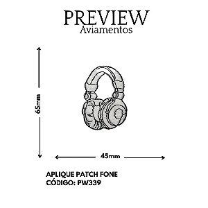 PATCHWORK FONE DE OUVIDO  65MMX45MM