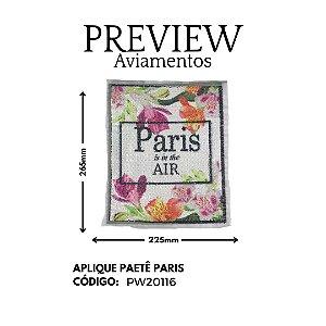 APLIQUE DE COSTURA C/ PAETE PARIS ISIN THE AIR