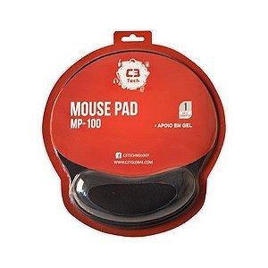 Mouse Pad c/ apoio em Gel - C3Tech MP-100