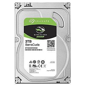 HD Interno 3.5 Seagate 3TB Desktop BarraCuda Sata 64MB - 7200RPM