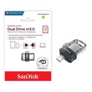 Pen Drive Ultra 16GB Dual Drive Usb 3.0 Sandisk